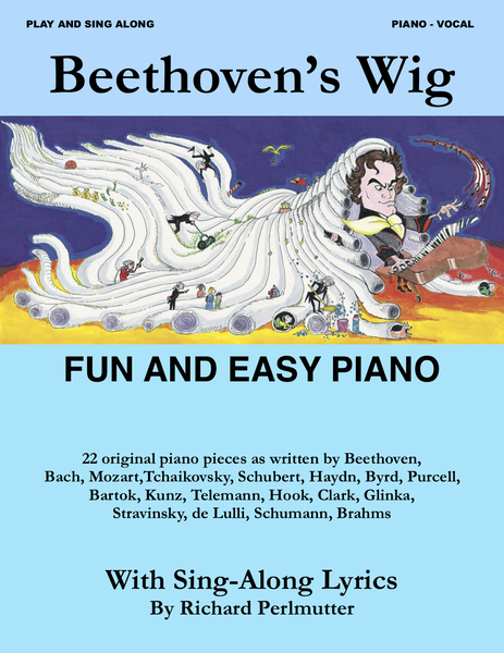 cover of Beethoven's Wig Fun And Easy Piano Songbook